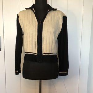 St. John zip up ribbed vintage y2k wool sweater